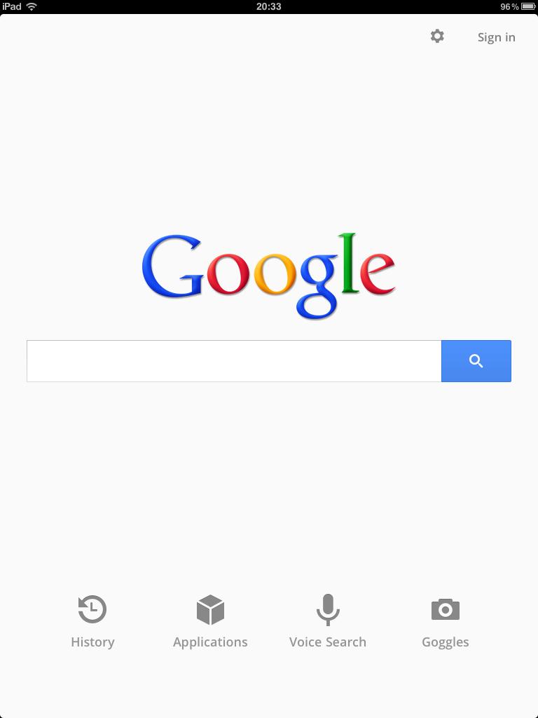 ipad Google app yenilendi!