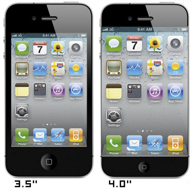 iPhone 5 için 4inch ekranlar yola çıktı!