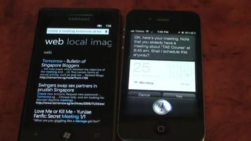 Microsoft TellMe ve Siri karşılaştırması!