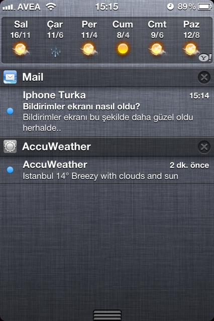 iOS 5 Bildirimler menüsünün sıralaması nasıl değişir