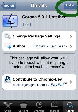 Tethered Jailbreak'li iOS 5.0.1'iniz nasıl hemen Untethered jailbreak yapılır