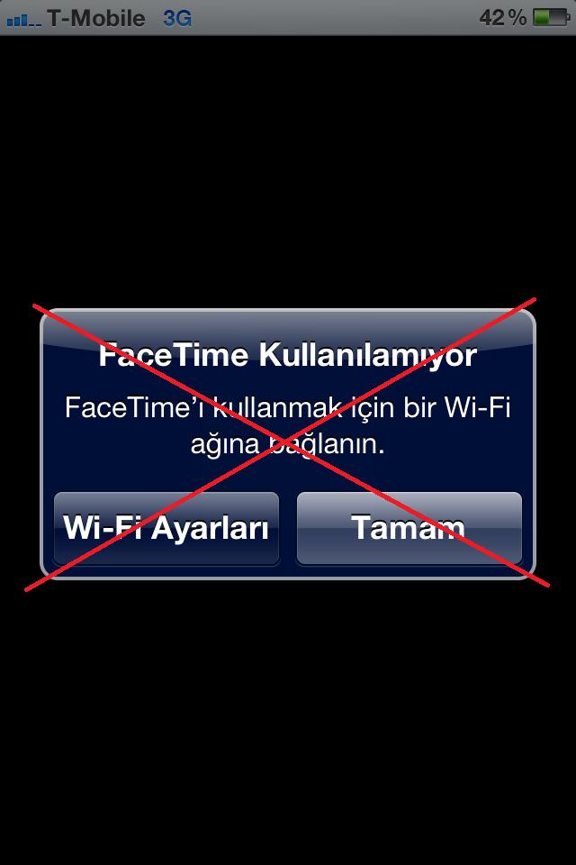 iOS 5'de 3G üzerinden nasıl FaceTime video görüşmesi yapılır?