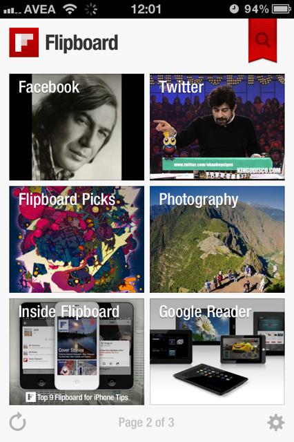 Facebook, Twitter hesabınızı iPhone'unuzda dergi formatında okuyun