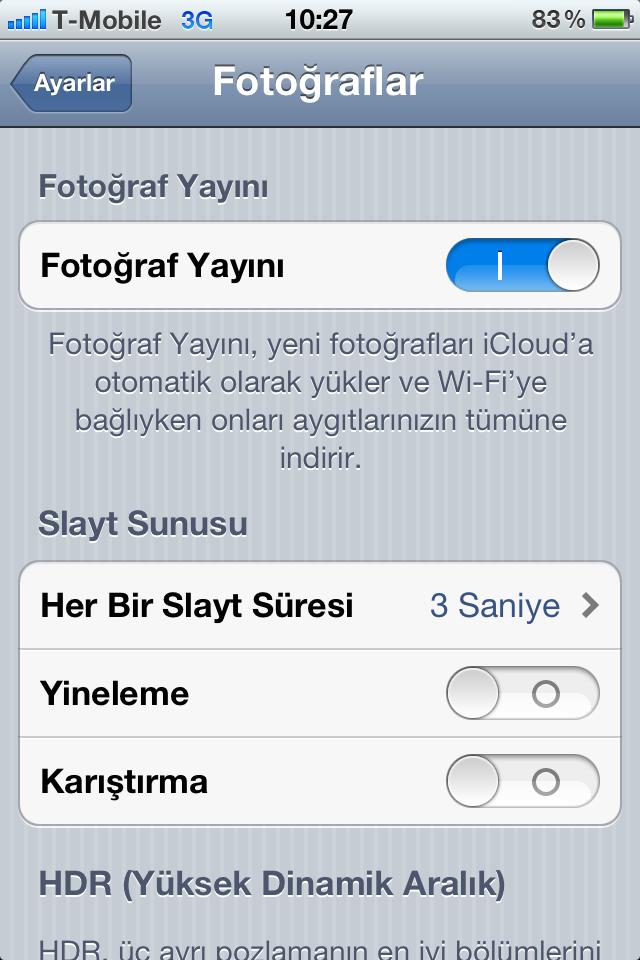 iOS 5.1 Beta 2 çıktı. Fotoğraf yayın eziyeti bitiyor!