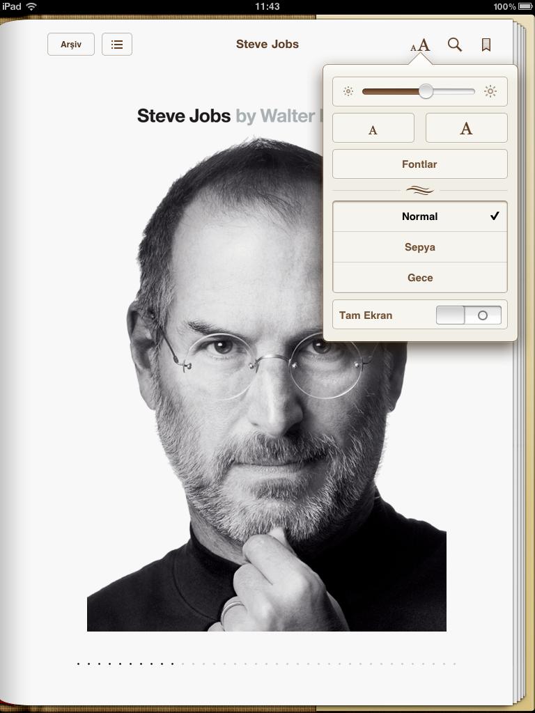 iBooks'a gece okuma ve tam ekran okuma güncellemesi geldi