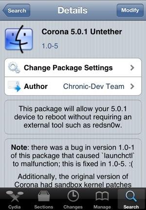 iOS 5.0.1 Untethered Jailbreak'de yaşanan iBooks sorunu için Corona ve Redsn0w düzeltmesi çıktı