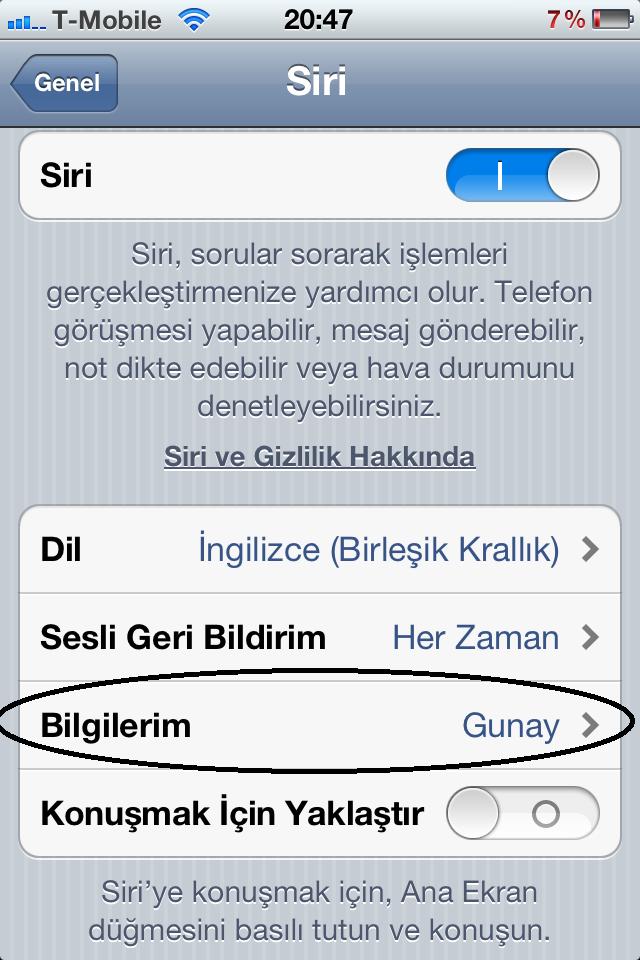 Türkçe Isimleri Siriye Nasıl Tanıtabilirim Iphone Turka