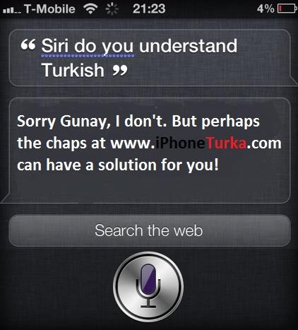 Türkçe isimleri Siri'ye nasıl tanıtabilirim?