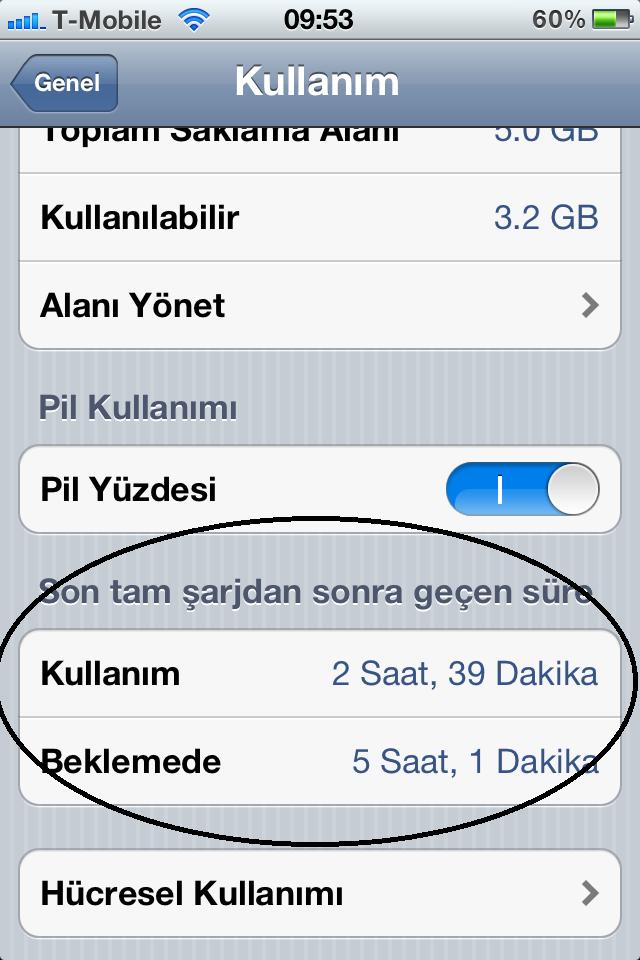 iOS 5.1 ile pil verimliliği arttı! (mı?)