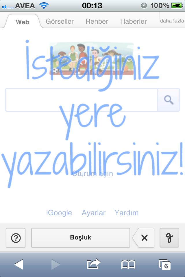 El yazınızla iPhone ile Google'da arama yapın!