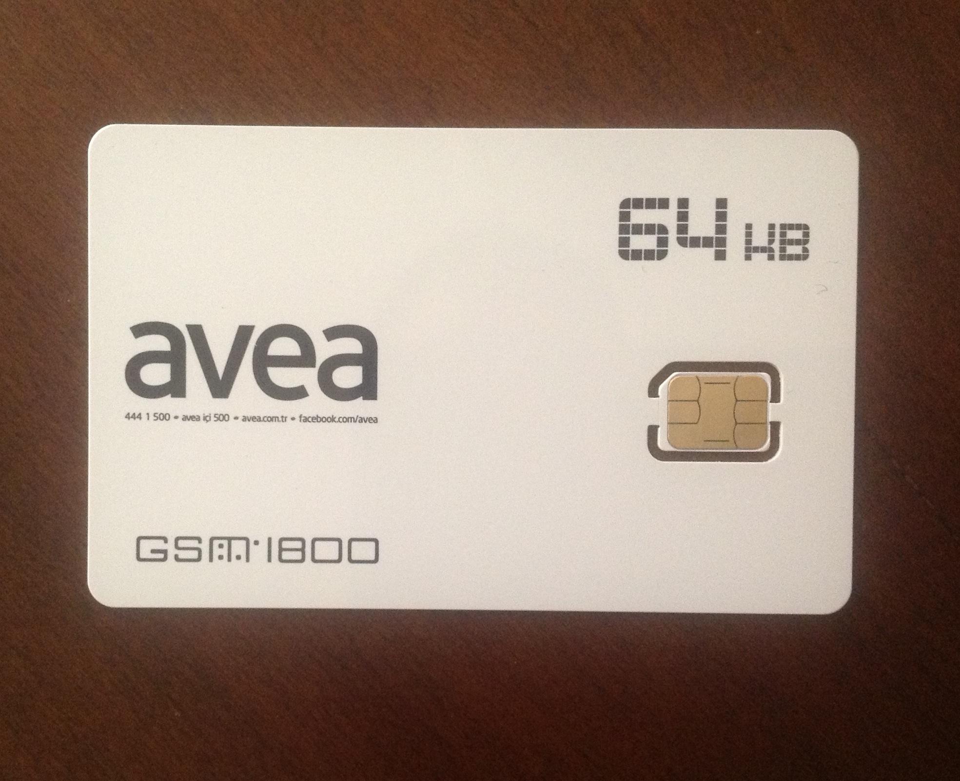Avea Nano Sim kartta sözünü tuttu!