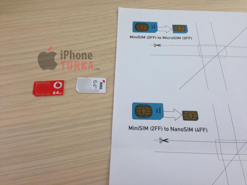 Mini ve ya Micro SIM kart, iPhone 5 için nasıl Nano SIM'e dönüştürülür Tutorial – Türkiye'de ilk kez!