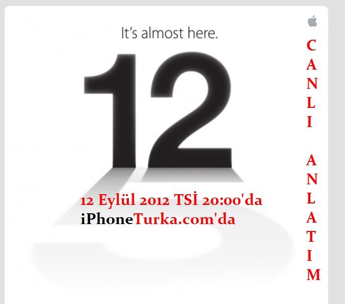 iPhone 5 Lansman – CANLI ANLATIM BAŞLADI
