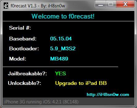 iPhone 3GS'inizin Bootrom'unu kolayca nasıl öğrenebilirsiniz?