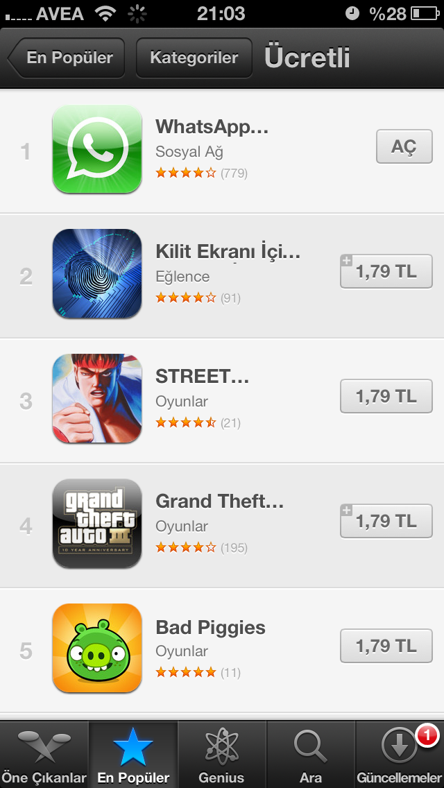 App Store'da paralı uygulamalar artık TL cinsinden satılıyor!