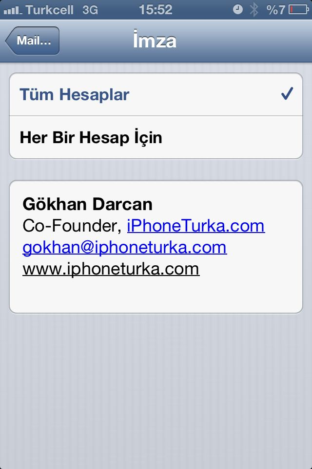 iPhone ve iPad'e Email için nasıl HTML imza eklenir