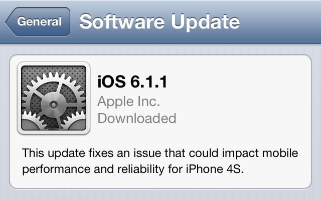 Apple, iPhone 4S'lerdeki 3G sorunu için iOS 6.1.1 güncellemesi çıkarttı!
