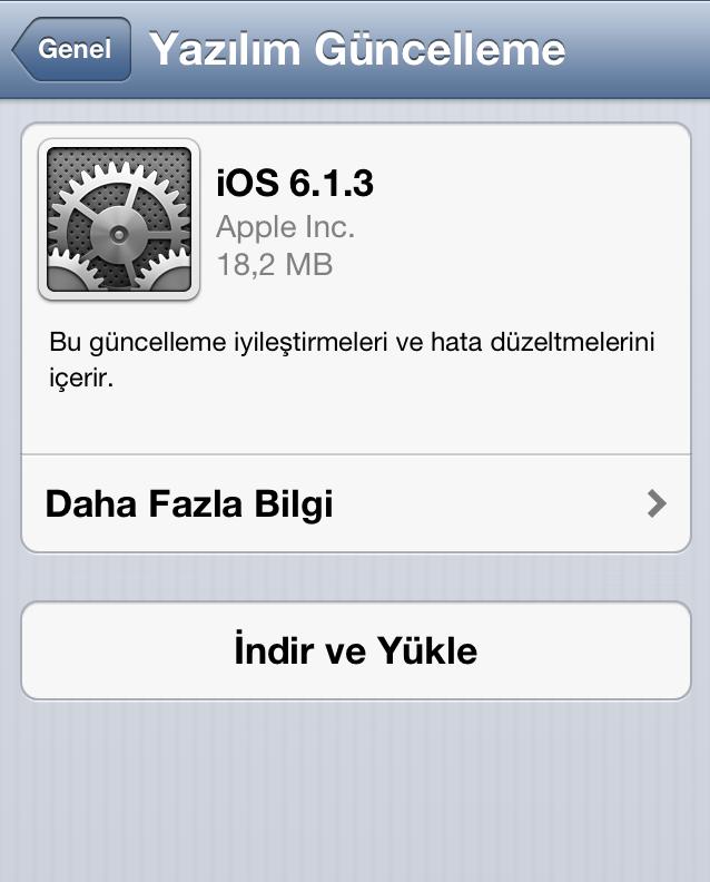 Apple güvenlik açığını gidermek için iOS 6.1.3 güncellemesini çıkarttı