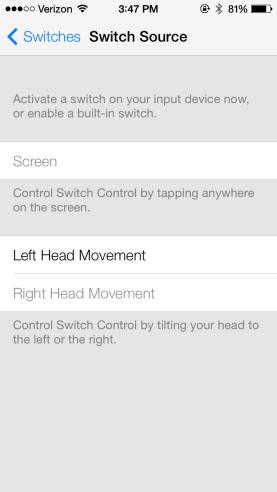 iOS 7'de iPad ve iPhone'lar baş hareketi ile kontrol edilebiliyor