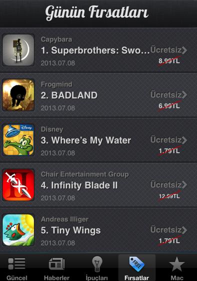 Popüler iOS oyunları App Store'da Bedava