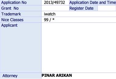 """Apple """"iWatch"""" patenti için Türkiye'de de başvuruda bulunmuş!"""