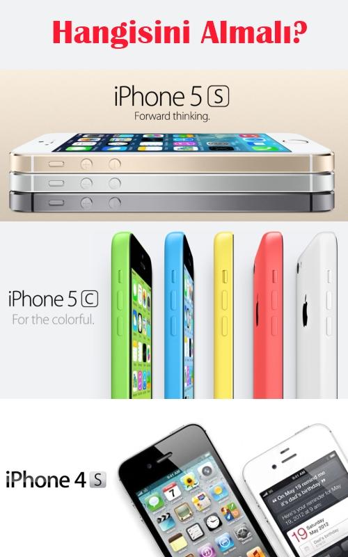 Hangisini almalı: iPhone 5S mi, iPhone 5C mi, iPhone 4S mi?