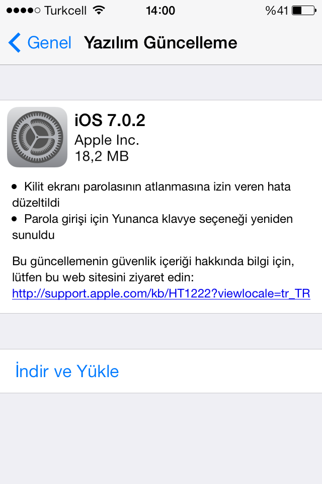 iOS 7.0.2 çıktı! Kilit ekranı açığı giderildi!