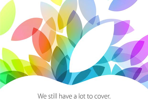 22 Ekim Yeni iPad, iPad mini ve MacBook Pro Tanıtım Etkinliği