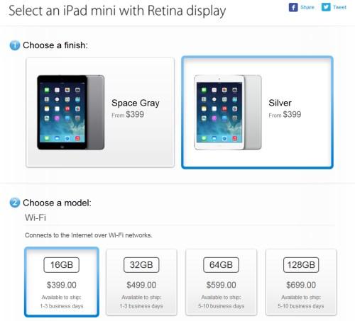 iPad mini Retina satışına başlandı!