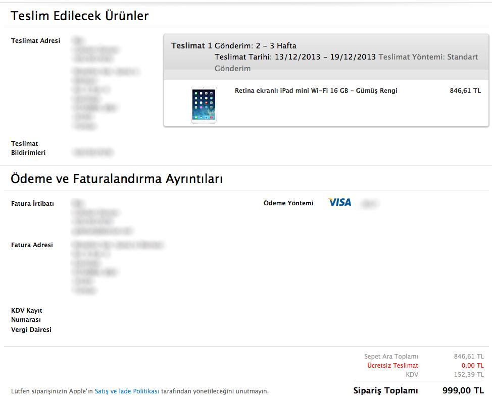 Apple Store Türkiye'den İlk Sipariş Deneyimi
