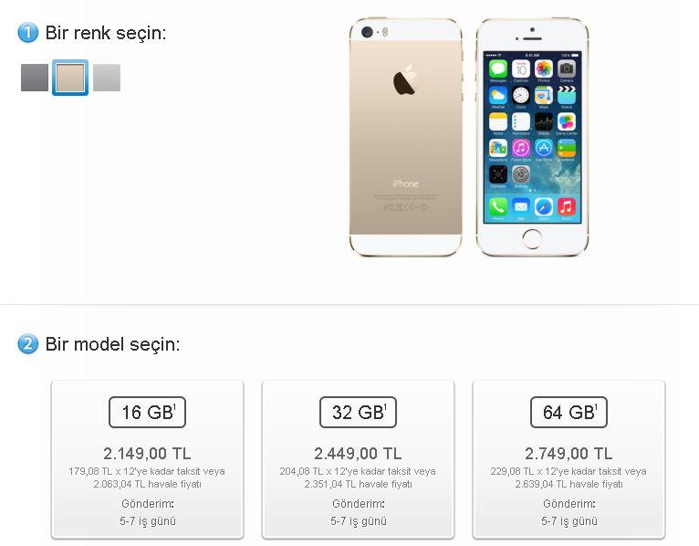 Apple Türkiye Online Mağazası Açıldı – iPhone 5S fiyatlar daha mı uygun?