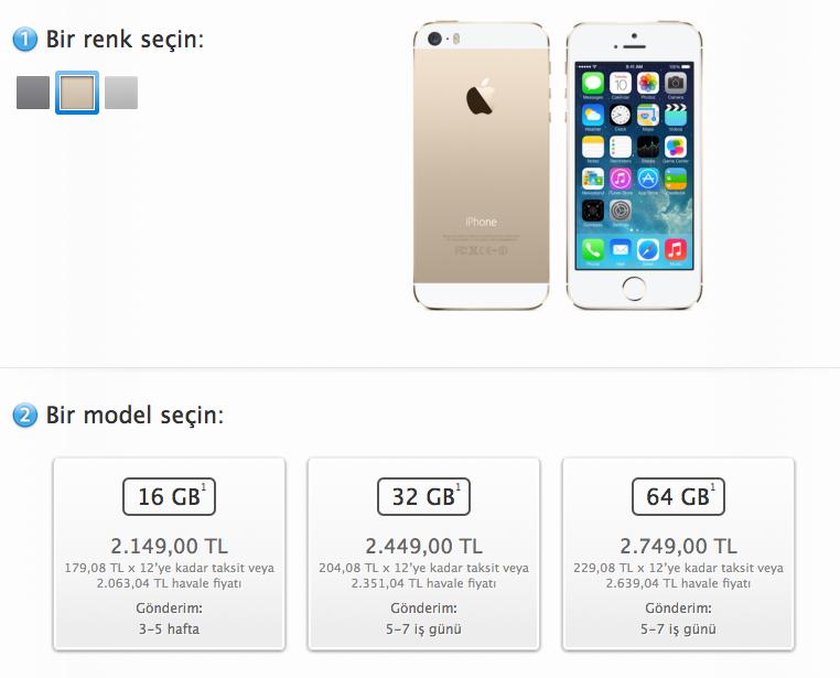 16GB iPhone 5S Gold Türkiye'de de yok satıyor!
