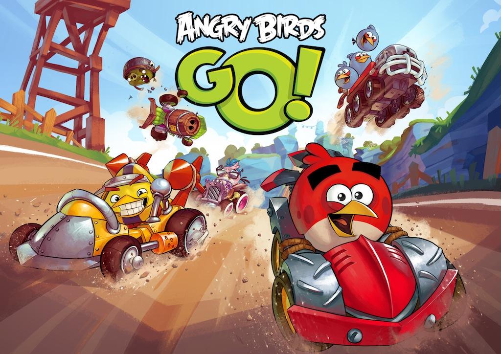 Kızgın Kuşların yarışçıları 'Angry Birds Go' çıktı!