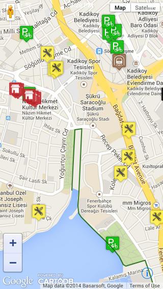 İki Tekere güzel destek: Bisikletli Ulaşım Haritası Uygulaması