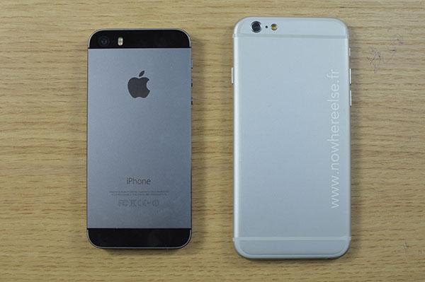 iPhone 6 vs iPhone 5s görsel karşılaştırma