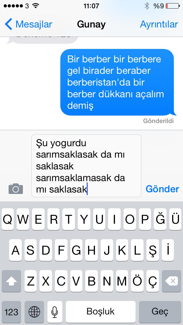 iOS 8'de Türkçe dikte ile yazı geliyor