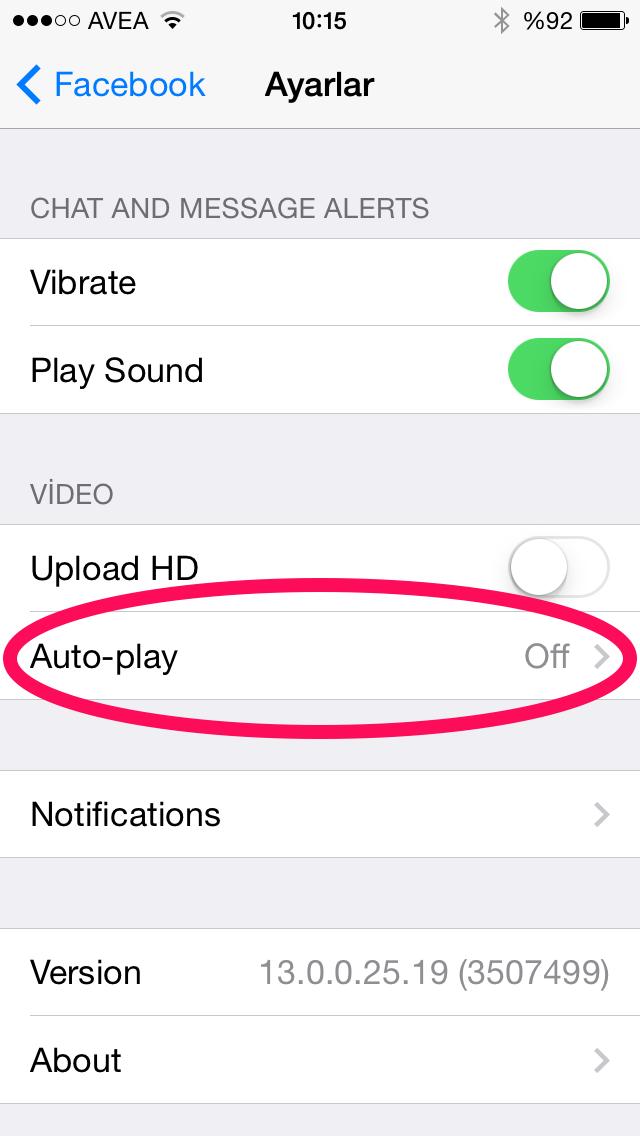 iPhone ve iPad'de Facebook Otomatik Video oynatma nasıl kapatılır?