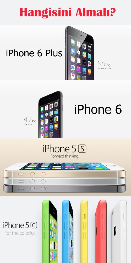 Hangisini almalı: iPhone 6 Plus mı, iPhone 6 mı, iPhone 5S mi, iPhone 5C mi?