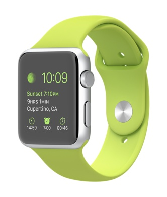 Apple-Watch-42mm-Silver-Aluminum-Case-with-Green-Sport-Band