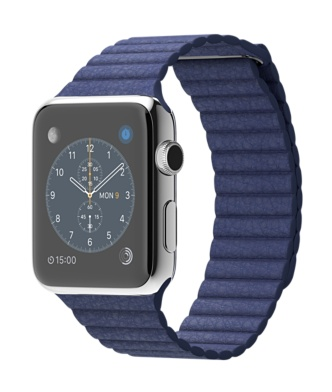 Apple-Watch-42mm-Stainless-Steel-Case-with-Birght-Blue-Leather-Loop