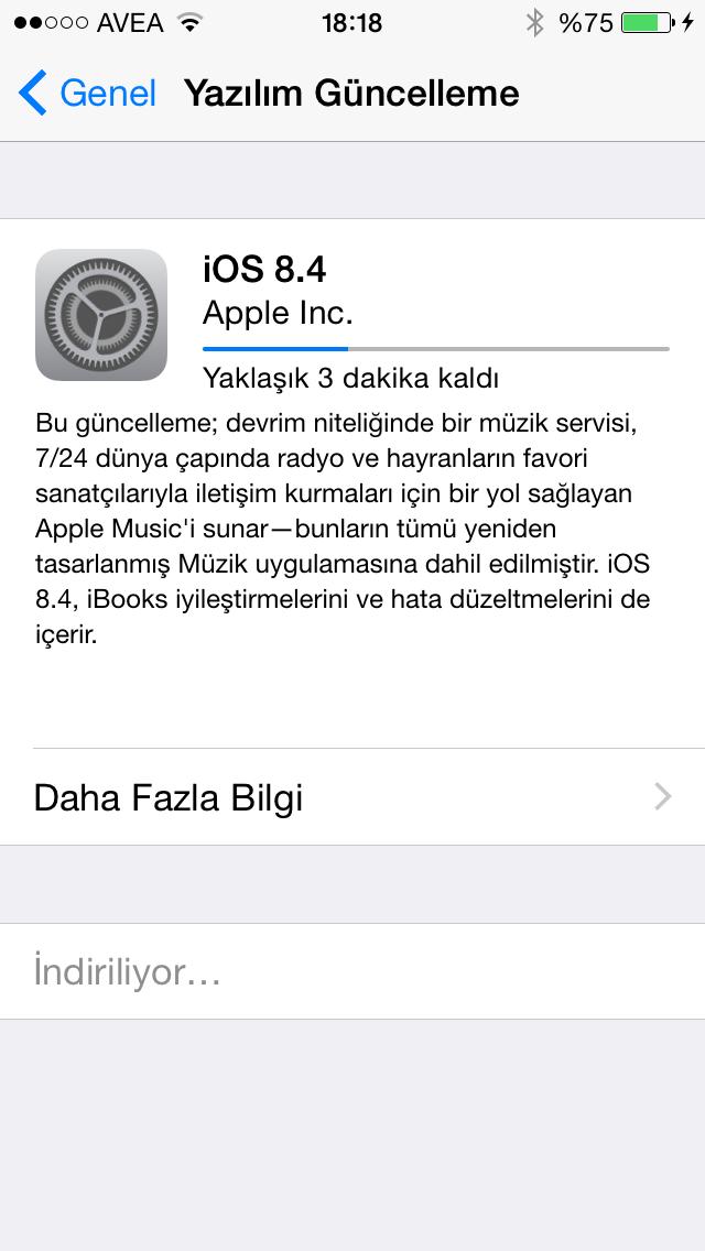 iphone 6 yazılım güncelleme kullanılamıyor