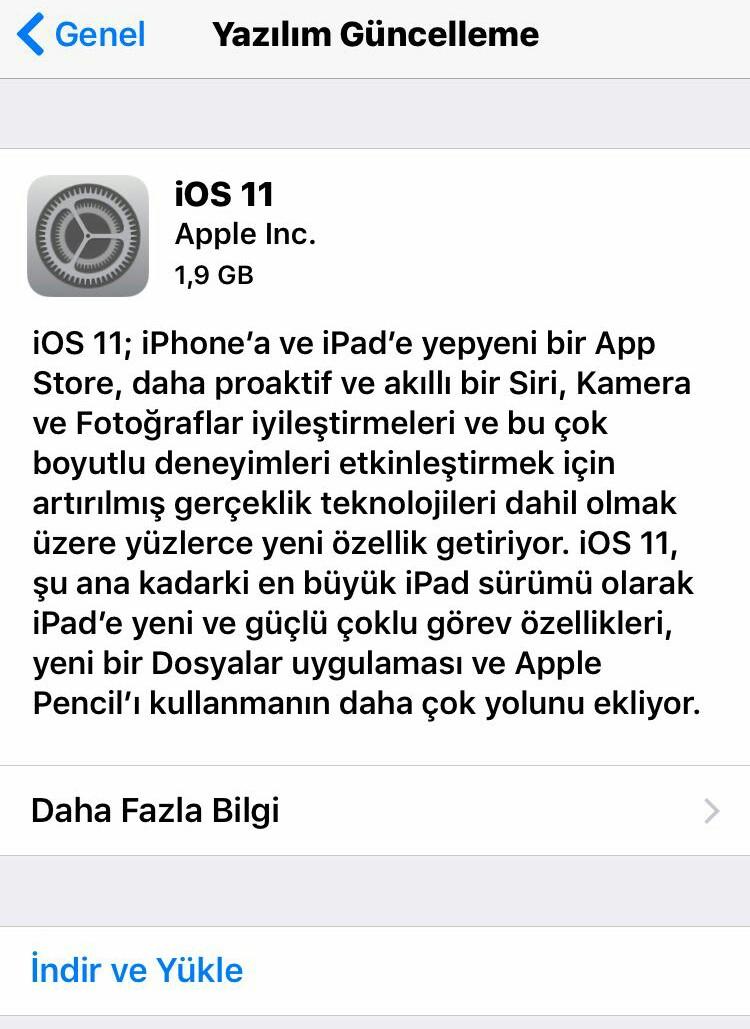 iOS 11 genel sürümü yayınlandı, güncelleme zamanı!