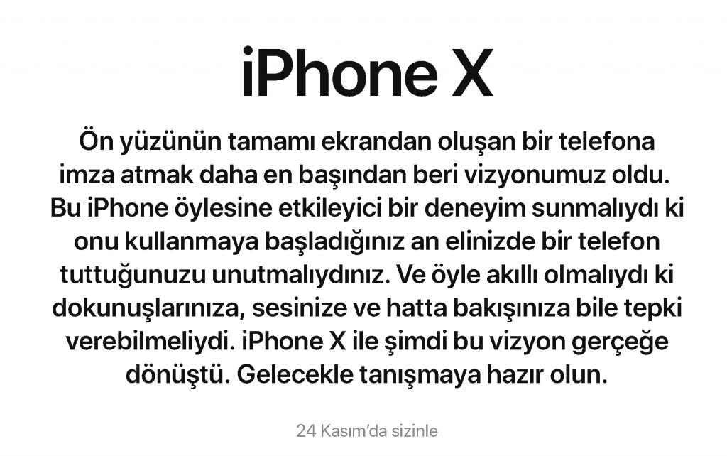 iPhone X 24 Kasım'da Türkiye'de Resmen Satışta!